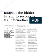 1-Budgets - The Hidden Barrier to Successs in the Information Age