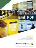 CBA September Quarter 2015 Basel III Pillar 3 Report