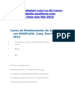 Curso de Modelamiento de Acuíferos Con MODFLOW