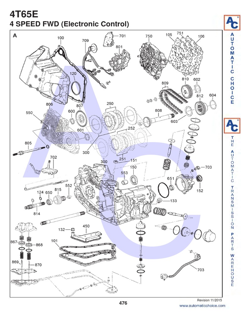 4t65e transmission (mechanics) gear 4T65E Part Location
