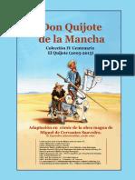 Fascículo de, comic Las aventurs de D. Quijote