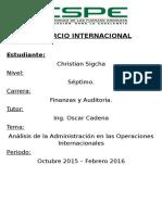 Comercio Internacional Operaciones Del Ecuador