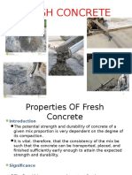 Properties of Fresh Concrete Presentation