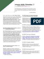 Articolo. L'Importanza Della Vitamina D (Per La Salute Di Ossa e Denti) -- EdizioniPDF