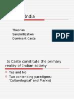 Caste in India (sanskratization)