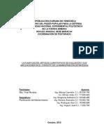 Métodos Cuantitativos para la Evaluación de la Planificación