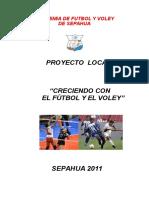 Proyecto de Futbol y Voley Valido