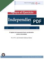 El régimen de incorporación fiscal