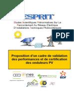 Esprit Certification Onduleurs Pv de Cembre 2011