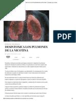 Desintoxica Los Pulmones de La Nicotina - Remedios Para El Alma