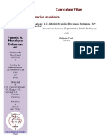 CV Francis Manrique