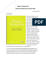 Vidal Senen - Nuevo Testamento_Comentario a Piñero