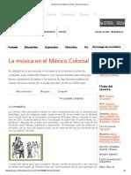 La Música en El México Colonial - Recursos Educ