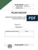 Plan Haccp Formato Completo