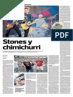 Stones y Chimichurri. Por Jaime Bedoya
