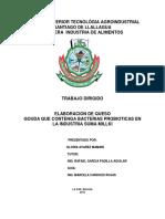 TRABAJO DIRIGIDO PARA OBTAR EL TITULO DE   TECNICO SUPERIOR EN INDUSTRIA DE ALIMENTOS