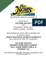 Pat and Oscars Outreach Flyer