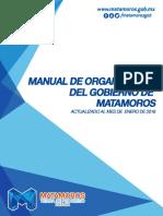 Manual de Organización del Gobierno de matamoros