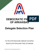 ArkansasDemocratic 2016DelegateSelectionPlan11.11.15