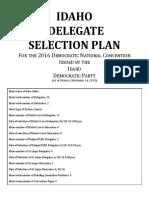 IdahoDemocrats 2016DelegateSelectionPlan 9.14.15