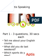 Aptis Speaking Phrases