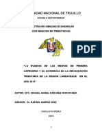 Ejemplo de Modelo de Proyecto Tributacion -2015