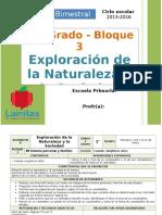 Plan 1er Grado - Bloque 3 Exploración de La Naturaleza