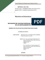 Ejemplo de Cálculo de Una Estructura Empleando El Enfoque Matricial Del Método de Los Desplazamientos