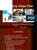 Managing Stage Fear Presentation