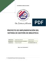 1. Proyecto de Implementación Del Sistema de Gestión de Biblioteca-SGB