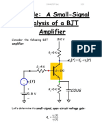 Example a Small Signal Analysis of a BJT Amp