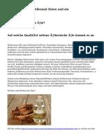 Ätherische Öle - Allesamt Daten und ein Zusammenfassung