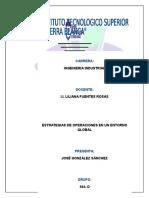 Estrategia de Operaciones en Un Entorno Global1