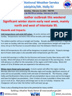 NWS Weather Briefing - February 13, 2016