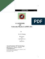 Final Lab Manual Aphy251sent Oo25 Nov2009