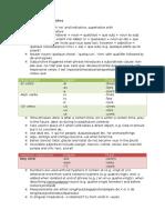 Grammar Notes French & German