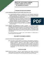 Reglamento de Evaluacion Del Desempeño Estudiantil