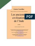 Gaston Courtillier - Les Anciennes Civilisations de l Inde