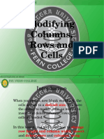 3 - Modifying Columns, Rows, And Cells