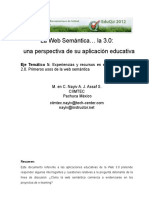 La Web Semantica. La 3.0 Una Perspectiva de Su Aplicacion Educativa