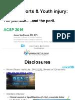 "ACSP Keynote Talk ""Youth Sports"