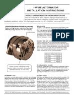 1-wire alternator instructions
