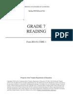 comprehension test for grade 7