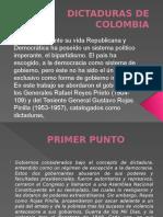 Dictaduras de Colombia