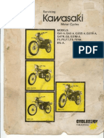 Kawasaki GA1-A,GA2-A,G3SS-A,G3TR-A,G4TR,G5,G31M-A,F5,F6,F7,F8,F81M,B1L-A Cycleserv Service ManualCycleserv Service Manual