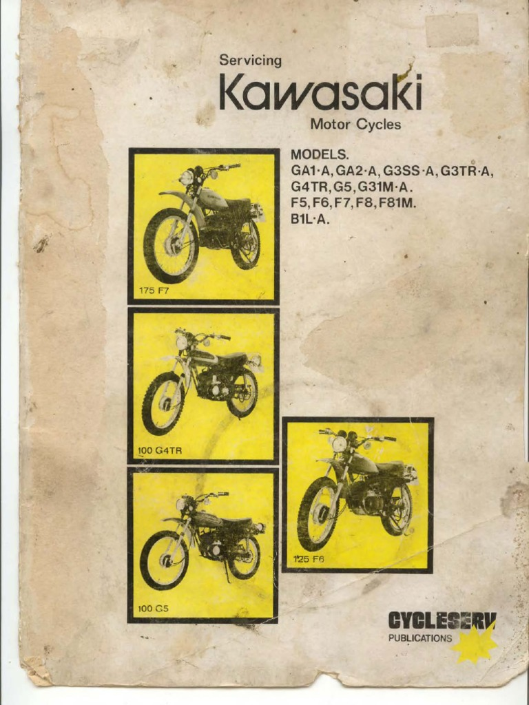 Kawasaki GA1-A,GA2-A,G3SS-A,G3TR-A,G4TR,G5,G31M-A,F5,F6,F7,F8,F81M,B1L-A  Cycleserv Service ManualCycleserv Service Manual   Cylinder (Engine)    Piston