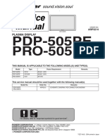 Pioneer Pdp-505pe Pro-505pu Sm