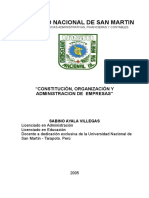Constitucion Organizacion y Administracion de Empresas