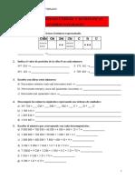 Esquema de ejercicios para matemáticas