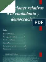 Situaciones relativas a la ciudadanía y democracia